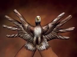 Hand bird
